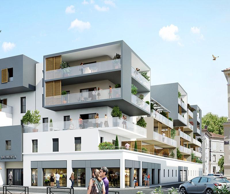 vue commerces est carré molière montélimar agence architecte sorha valence drôme