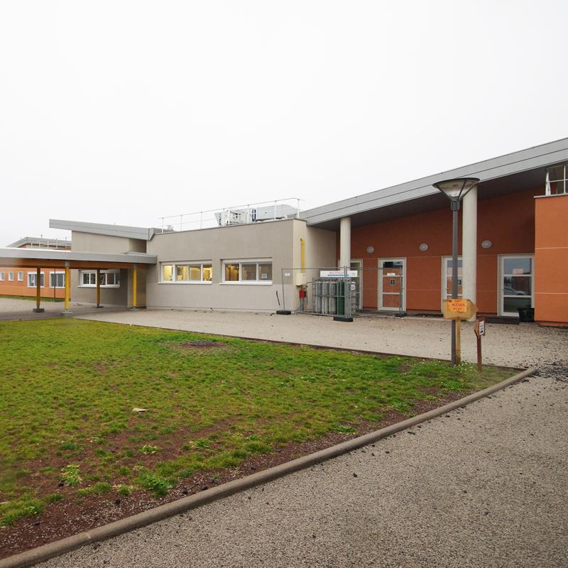 Cour intérieure du CFA BTP Haute-Loire de Bains