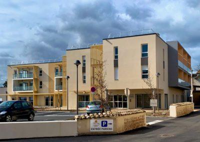 Extérieur Résidence autonomie Les Primeveres - La Chapelle de Guichay - Saône et Loire SORHA